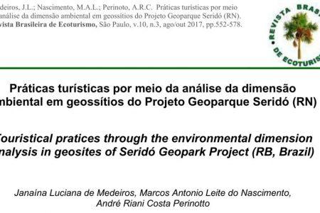 Práticas turísticas por meio da análise da dimensão ambiental em geossítios do Projeto Geoparque Seridó (RN)